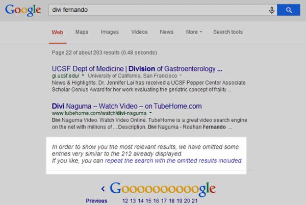 نتایج حذف شده از لیست گوگل به دلیل محتوای کپی