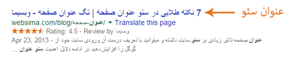 نحوه نمایش عنوان سئو در گوگل