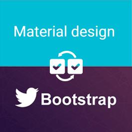 مقایسه Bootstrap و Material Design