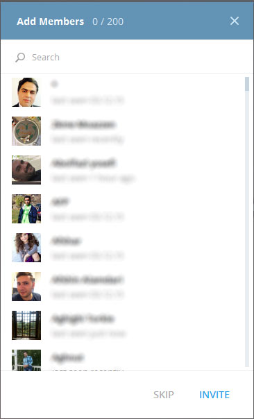 دعوت دوستان به کانال تلگرام