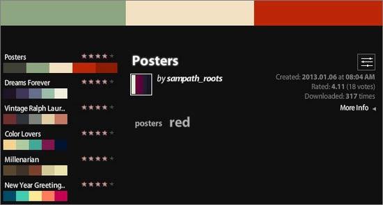 ترکیب مناسب برای رنگ سایت