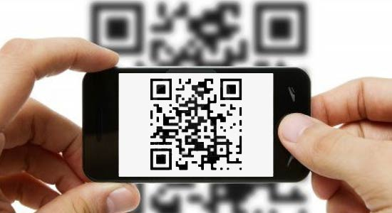 اسکن کد QR با به کار گیری گوشی همراه