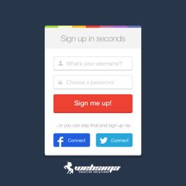 طراحی فرم ثبت نام سایت