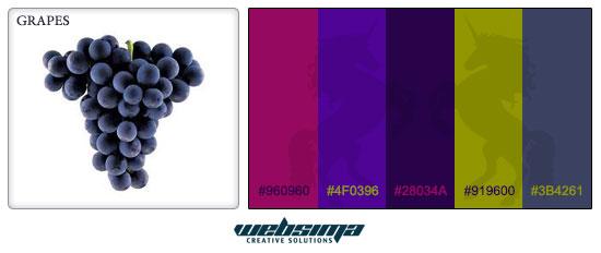 ترکیب رنگ انگور برای طراحی وبسایت