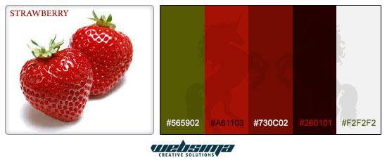 ترکیب رنگ توت فرنگی برای طراحی وبسایت