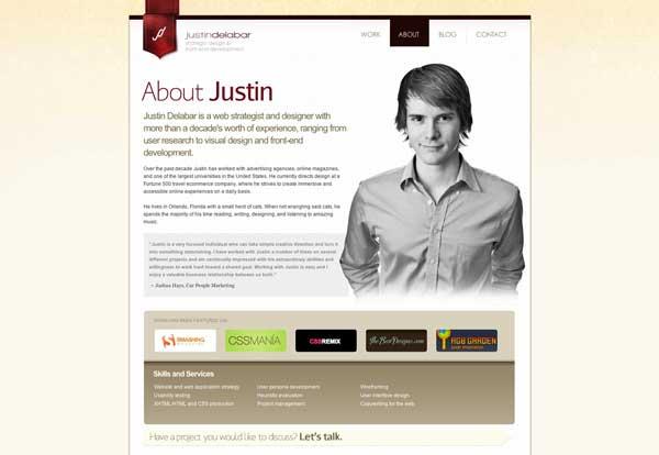 صفحه درباره ما برای سایت شخصی