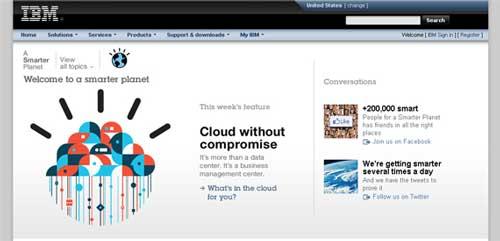 روانشناسی رنگها در-سایت IBM