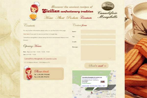 صفحه تماس با ما در طراحی سایت رستوران