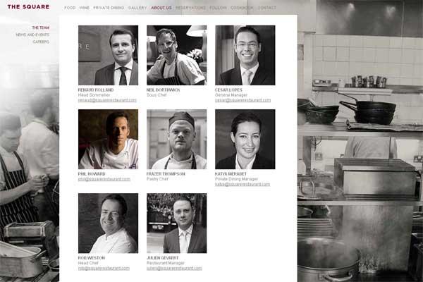 صفحه درباره ما در طراحی سایت رستوران