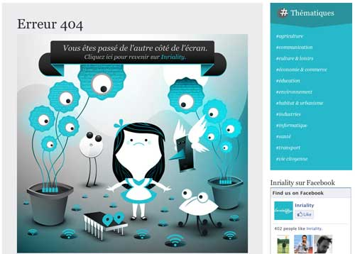 یک نمونه صفحه 404 گرافیکی