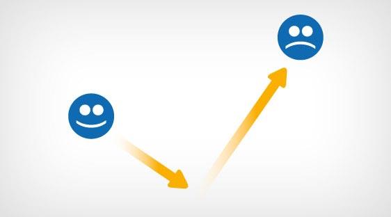 ضریب بازگشت (Bounce Rate) زیاد نشانگر عدم رضایت کاربران از محیط سایت است