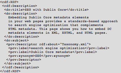 Dublin Core XML