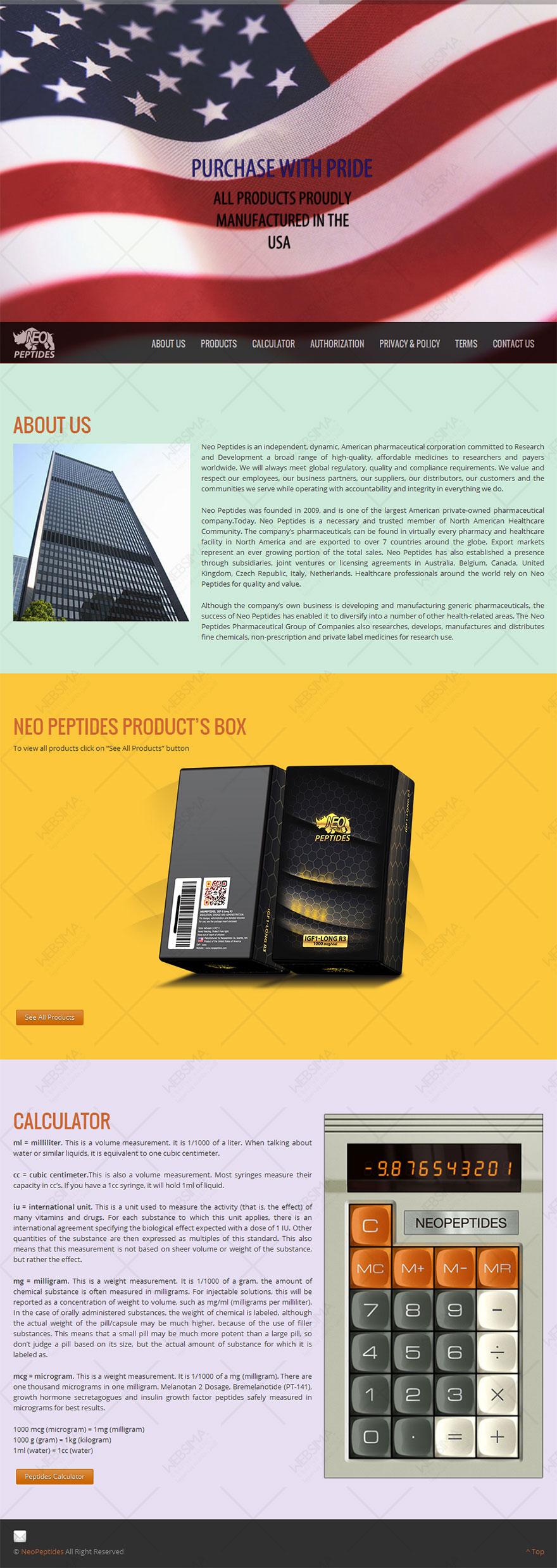 طراحی وبسایت شرکت دارویی NEO امریکا