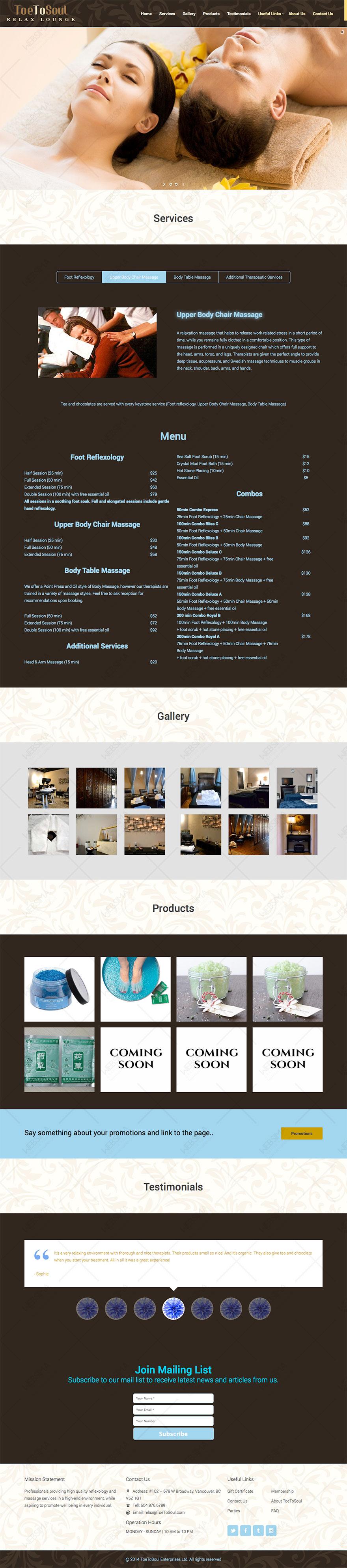 طراحی و سئو وبسایت ToeToSoul