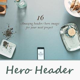 تکنیک hero header