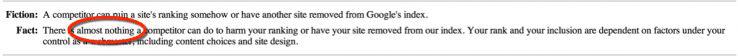 نظر گوگل درباره سئوی منفی