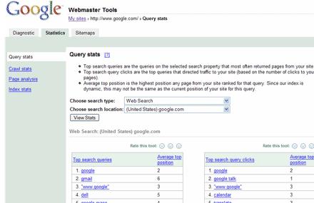 ظاهر وبمستر گوگل در سال 2006