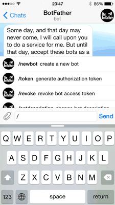 ربات botfather