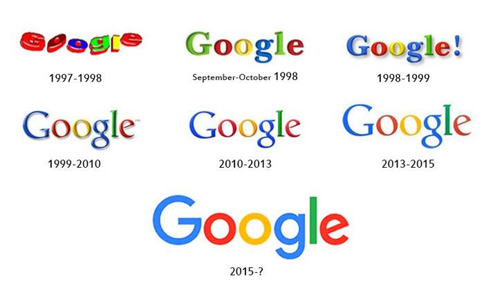 تغییرات لوگوی گوگل