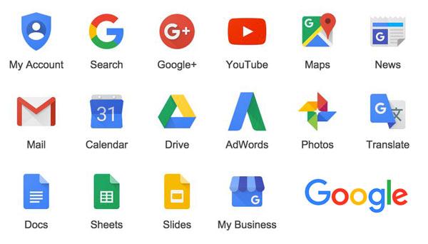 تغییر آیکون های گوگل با لوگو