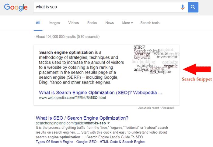 featured snippet در جستجوی گوگل