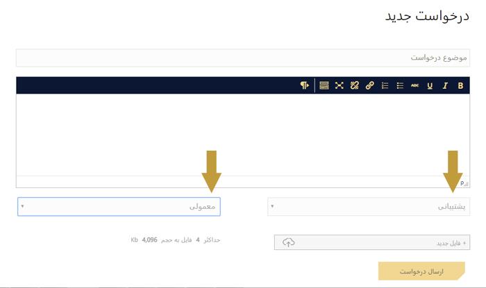 استفاده از مقدار پیش فرض در طراحی فرم تماس