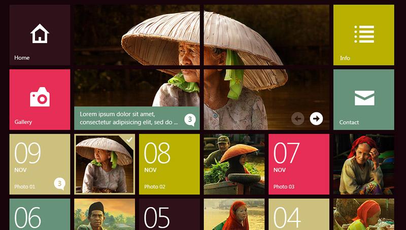 طراحی سایت مثل ویندوز