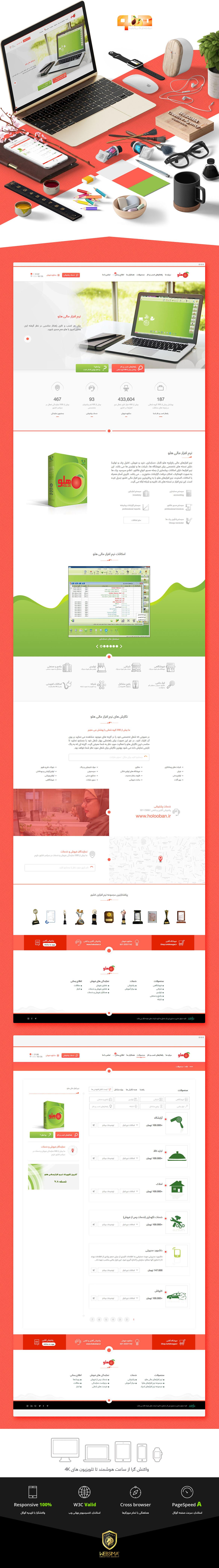 طراحی سایت نرم افزار مالی هلو