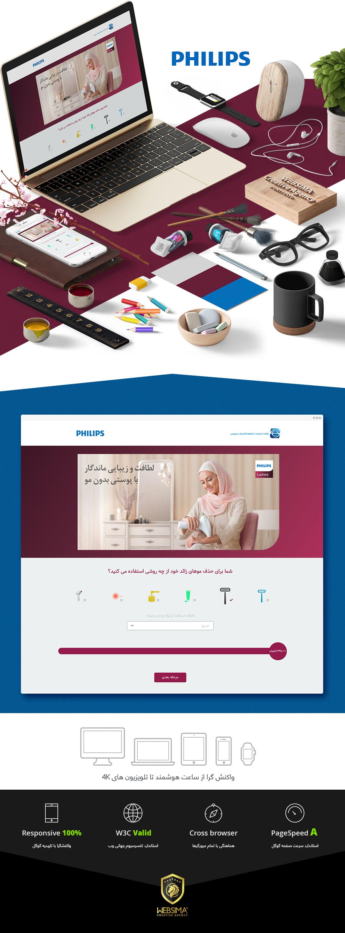 طراحی سایت خلاقانه فیلیپس