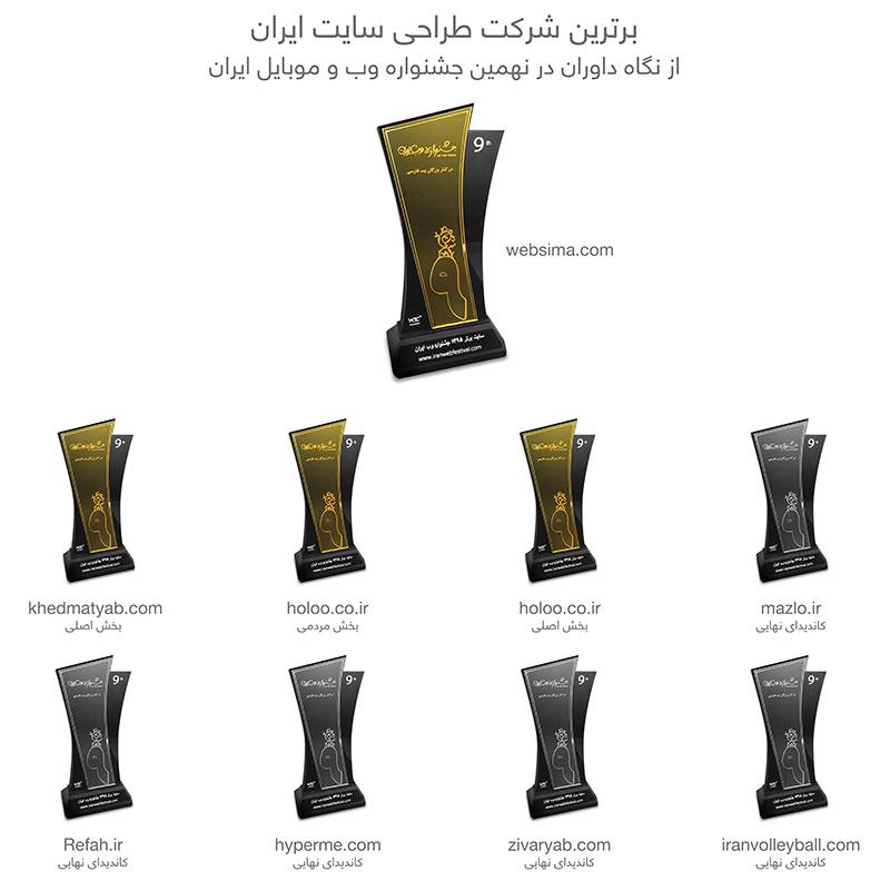 برنده بهترین شرکت طراحی سایت