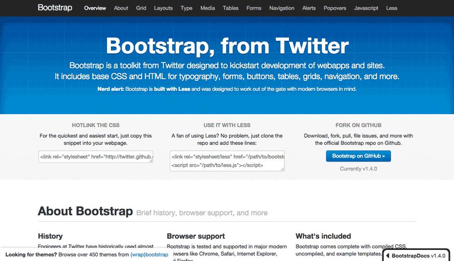 طراحی سایت با بوت استرپ ۱