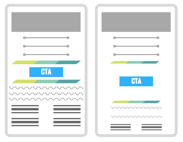 استفاده از فضای خالی برای طراحی CTA در سایت