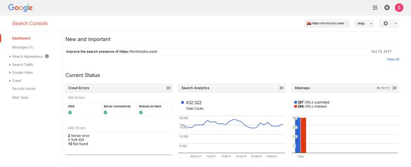 ابزار google search console