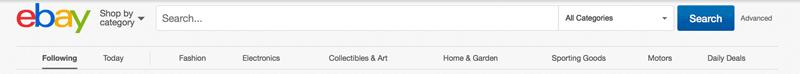طراحی فرم جستجو در سایت ebay