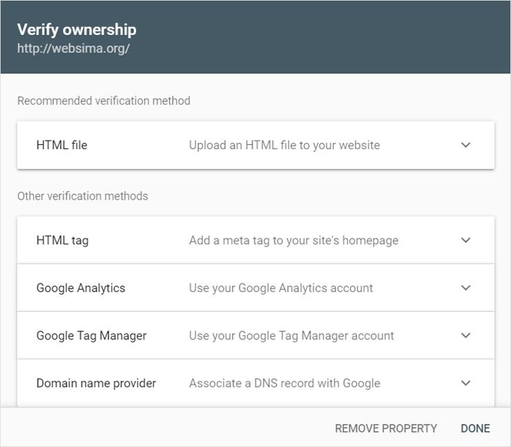 ثبت سایت در گوگل با استفاده از متد URL Prefix