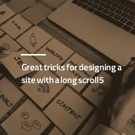 ۵ ترفند عالی برای طراحی سایت با اسکرول طولانی