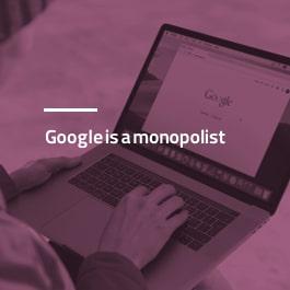 گوگل انحصار طلب است