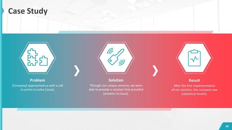 نمایش مراحل کار با استفاده از گرادیان رنگ در طراحی سایت