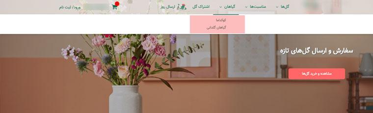 عدم توجه به محتوا در طراحی منو سایت