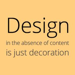 تکنیک طراحی سایت براساس محتوا