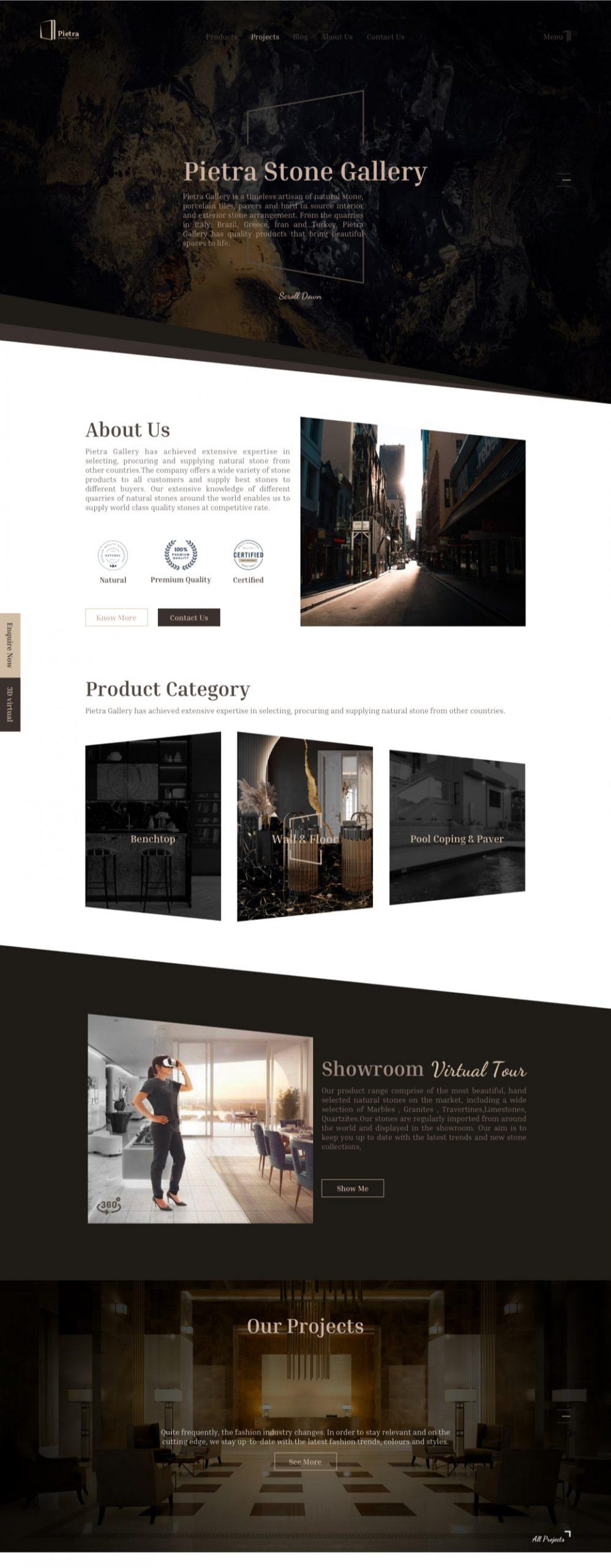 سایت پیترا || طراحی شده در آژانس خلاقیت وبسیما