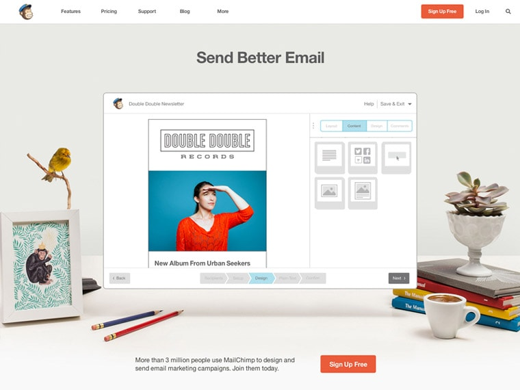 آموزش ارسال خبرنامه با Mailchimp